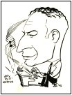 Caricature of Jelly Roll Morton by Jim Ivey c. 1956