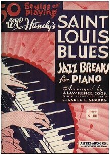 50 Styles of Playing W. C. Handy's SAINT LOUIS BLUES Jazz Breaks for Piano - 1946 Cover