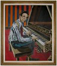 Framed oil painting of Jelly Roll Morton - commissioned by Richard Riley in 1969